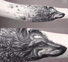 Wolf cute tattoo