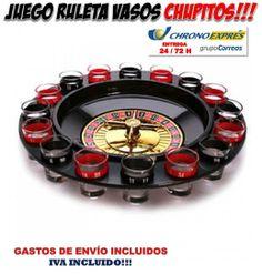 #ruleta #vasos #juegos #chupitos #gadgets #originales #regalos #compras #ofertas #descuentos  Ahora en la nuestra tienda de regalos originales Yougamebay puedes comprar este divertido juego para beber con tus amigos y pillarte una cogorza de órdago. Juego ruleta chupitos en oferta con entrega urgente. http://www.yougamebay.com/es/product/juego-chupitos-ruleta-juegos-para-beber-en-fiestas-con-amigos---ruleta-chupitos