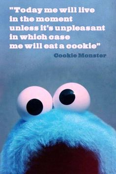 Cookie Monster gets it.