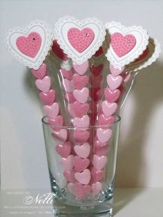 A Stampin' Up! Valentine Crafts, Valentine Day Gifts, Valentines, Valentine Ideas, Candy Crafts, Paper Crafts, Test Tube Crafts, Sweet Carts, Candy Favors
