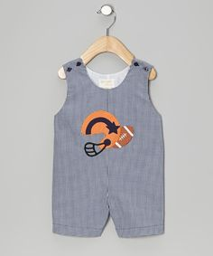 Little football fans can show the world their favorite sport with these sweet shortalls. Being active is easy thanks to the fabric's right amounts of softness and stretch. 65% polyester / 35% cottonMachine wash; tumble dryMade in the Philippines