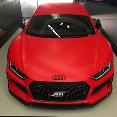 Matte Red Audi - Cars and motor Audi S3 8l, Audi R8 V10, Audi A7, Audi Quattro, Luxury Sports Cars, Top Luxury Cars, Sport Cars, Red Audi, Black Audi