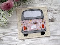 Camper Van Coaster VW Bus Coaster Fabric Coaster Gift For