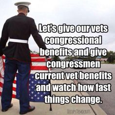 It's shameful how long vets have to wait for health care. Shameful.