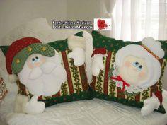 Cojin Sr.y Sra Noel Christmas Clay, Christmas Humor, All Things Christmas, Christmas Holidays, Decor Crafts, Christmas Crafts, Christmas Ornaments, Christmas Door Decorations, Holiday Decor