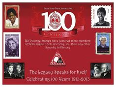 Members of Delta Sigma Theta Sorority, Inc. featured on USPS stamps in years past. #DST100