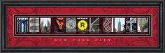 New York City Framed Letter Art