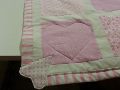 Corners on baby girl quilt
