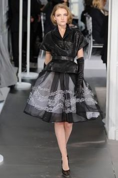 """Dior Spring 2012- inspired by Christian Diors 1950s """"new look"""""""