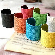 Multicolor+Leather+Open+Bracelet(Assorted+Color)+–+USD+$+4.99