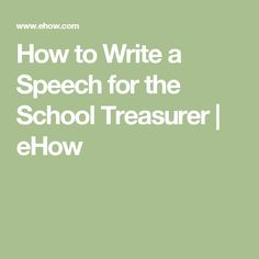 how to write a campaign speech for school