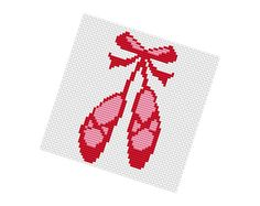 BALLET GIRL Shoes  Cross stitch Pattern PDF   Ballet di POWSTITCH