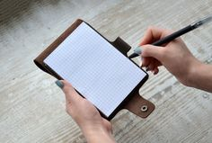Leather Notebook Cover Personalized Notebook cover от Handor