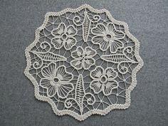 Vintage Hand Crochet Lace Macrame