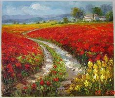 tuscan paintings Beautiful Paintings, Beautiful Landscapes, Landscape Art, Landscape Paintings, Tuscan Art, Italy Painting, Watercolor Art Paintings, Tuscan Decorating, Garden Painting