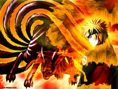 Uzumaki Naruto and Kyuubi