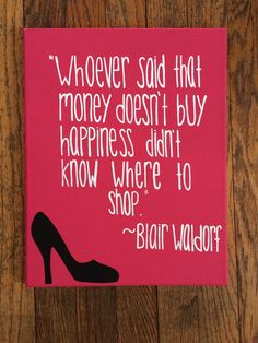 Blair Waldorf Quote Canvas by EastCoastCanvas on Etsy