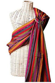 Maya Wrap Ring Sling - Bright Stripes - Large: I think it's safe to say I'll end up being a bit of a hippie mom. Maya Wrap, Ergonomic Baby Carrier, Best Diaper Bag, Sling Carrier, Best Baby Carrier, Ring Sling, Woven Wrap, Textiles, Baby Wraps