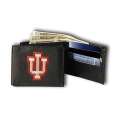 Indiana Hoosiers Ncaa Embroidered Billfold Wallet