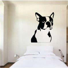 French Bulldog Dog Art Bedroom Mural Stencil Wall Sticker Transfer Vinyl Decal | eBay