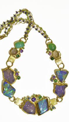 Treasure Trove NYC Aqua Chalcedony Pendant