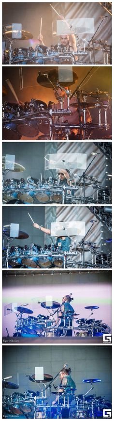 Shannon Leto & his drums...