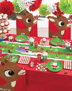 rudolph and friends party google search polar express christmas party christmas birthday party - Rudolph And Friends Christmas Decorations