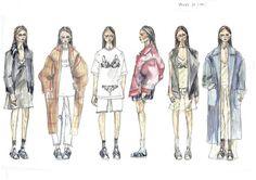 Fashion Sketcbook - fashion illustrations; collection line up drawings; fashion design portfolio // Lauren Hunt