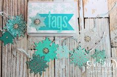 Glittery Tag Set - Stampin' Up! Artisan Design Team, November 2013, Jeanna Bohanon