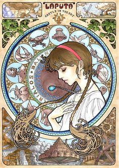 Mindbogglingly gorgeous Ghibli illustrations.