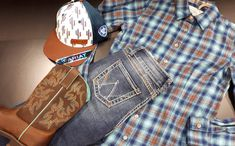 Westerns, Rock Revival, Jeans, Fashion, Cap, Boots, Shirt, Wrangler Clothing, Shop Local
