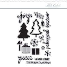 Stamp Set: Winter Thank You by Katie Thierjung at @studio_calico