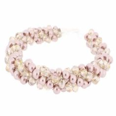Kumihimo Bracelet - Champagne  You must have a go at these bracelets, they are so easy to make and very pretty. They come with full instructions for you to use. I am sure all your friends will be asking you to make one, but don't tell them it only cost £4.99.