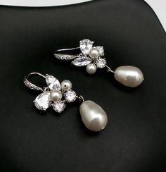 Wedding earrings bridal jewelry sterling silver by DesignByKara