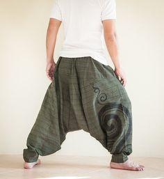 Harem Aladdin Unisex Baggy Kanok Swirl Curl by AmazingThaiStore