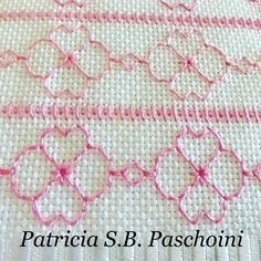 Patricia S. Blackwork Patterns, Blackwork Embroidery, Hand Embroidery Stitches, Diy Embroidery, Cross Stitch Embroidery, Embroidery Designs, Cross Stitch Borders, Cross Stitch Designs, Cross Stitch Patterns