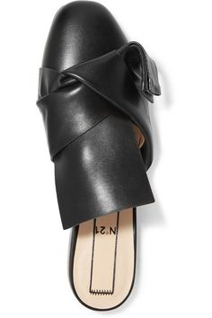 Slight heel Black leather Slip on Made in Italy As seen in The EDIT magazine