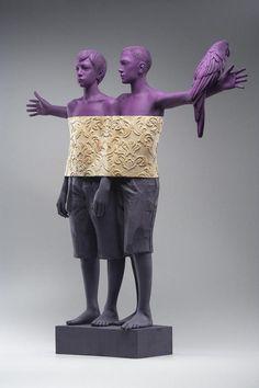 Сюрреалистические скульптуры от Willy Verginer (резьба по дереву)
