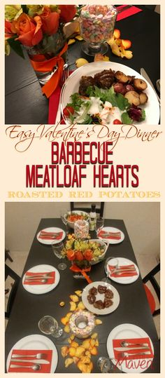Make an easy Valentine's Day Dinner with Barbecue Meatloaf Hearts, Roasted Red Potatoes and Green Salad. Your local Safeway or Albertsons has everything you need, including an incredible floral department. This post is sponsored by Safeway. Salads To Go, Dinner Salads, My Sweet Valentine, Valentines Day Dinner, Food Trends, How To Make Salad, Pinterest Recipes, Dinner Tonight, Meatloaf