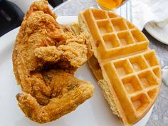 sylvia's restaurant in harlem since 1962 ... get the fried chicken + waffles @ 328 Malcolm X Blvd  New York, NY 10027 #(212) 996-0660 from man vs. food #manvsfood #nyc
