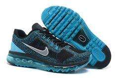 Nike Air Max 2013 CAMO Männer Schuhe Schwarz Blau