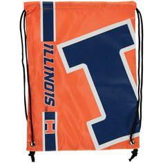 Illinois Fighting Illini Big Logo Drawstring Backpack - $9.99