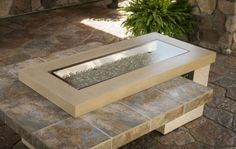Awesome gas fire pit! love the modern design