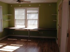 Bay window desk idea MB Basement Ideas Pinterest Window