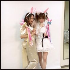 Ai Takahashi & Reina Tanaka. Former Morning Musume members.