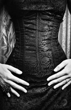 beautiful black corset