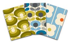 Orla Kiely Retro Flowers Pocket Notebook Trio