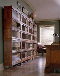 American Made Hale Manufacturing Heritage 300 Series Standard Depth Three Stack Barrister Bookcase
