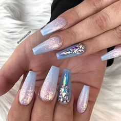 50 Cool Glitter Ombre Nails That are Trending This Summer! 571605377704770688 : 50 Cool Glitter Ombre Nails That are Trending This Summer! Nailart Glitter, Silver Glitter Nails, Glitter Nail Polish, Nail Polish Colors, Acrylic Nails, Gel Nail, Ombre Nail Designs, Nail Art Designs, Nails Design