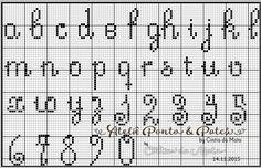 Ateliê Ponto & Patch: Alfabeto Letras Pequenas em Ponto Cruz                                                                                                                                                     Mais